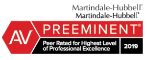David E Verlander III has earned a PREEMINENT rating with Martindale-Hubbell
